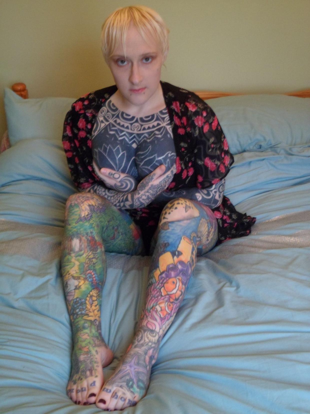 Tattooed hermaphrodite